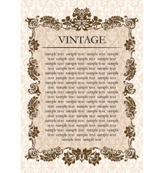 vintage glamour frame decor vector image