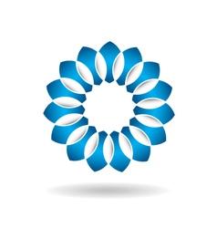 Abstract Blue Flower Infinite Loop vector image vector image
