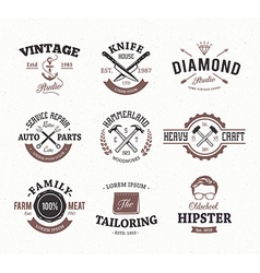 Craft Retro Emblems 2 vector image vector image