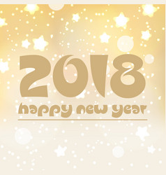 happy new year 2018 on shiny abstract background vector image vector image