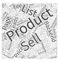How Can I Profit from Resell Rights products Word vector image