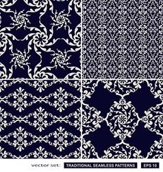 Vintage blue backgrounds vector image vector image