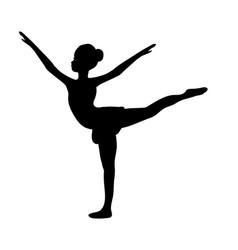 girl gymnastic sport silhouette sportswoman vector image vector image