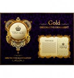 gold vintage decorative ornament vector image vector image