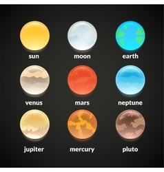 Planets of solar system vector image