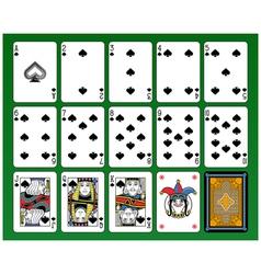 Spades Suite vector image vector image