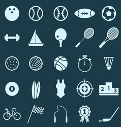 Sport color icons on blue background vector image