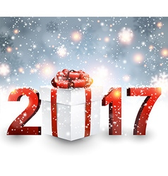 2017 New Year background with gift vector