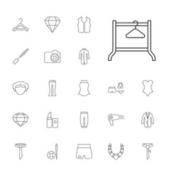 22 fashion icons vector image