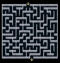 3d maze labyrinth with stone wallsdungeon escape vector image