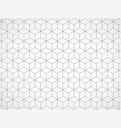 Abstract geometric background with cubes vector