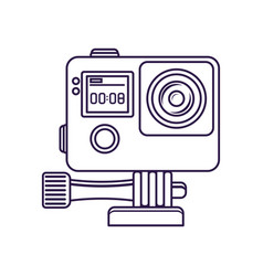 Action video camera isolated icon vector