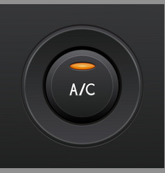 Air conditioning button car dashboard element vector