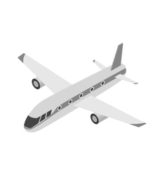 Airplane icon in monochrome style isolated on vector image