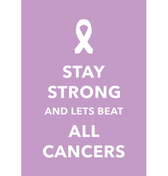 all cancers poster vector image