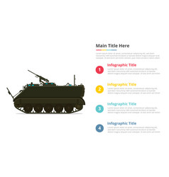 apc personel army carrier infographics template vector image
