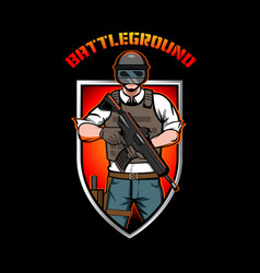 battleground insignia vector image