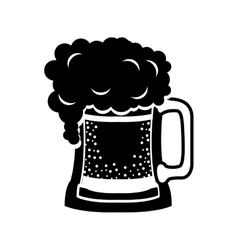 black silhouette beer mug drink vector image