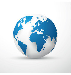 blue earth globe vector image