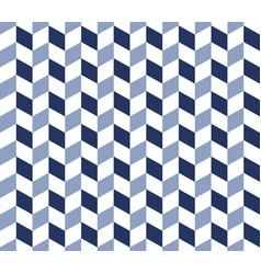 blue herringbone pattern vector image