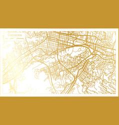 caracas venezuela city map in retro style vector image