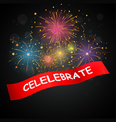 Celebrations with fireworks vector