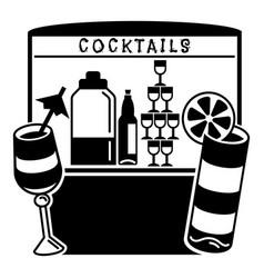 Cocktail kiosk icon simple style vector