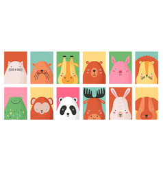 collection colorful card templates vector image