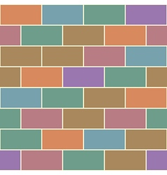 Colorful vintage red orange green brick wall vector