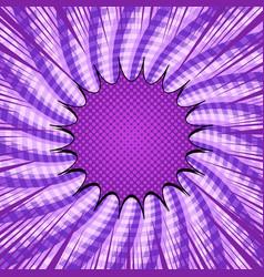 Comic burst purple template vector
