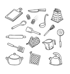 Cook tools set vector image