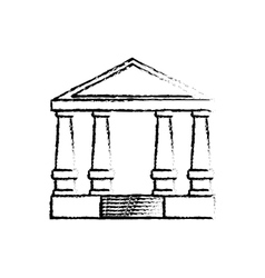 Court building symbol vector