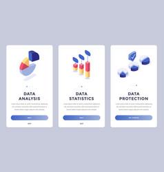 data mobile website pages set vector image