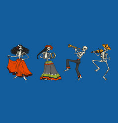 day dead mexican national holiday vector image