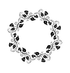 decorative empty round floral frame vector image