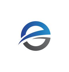 E letter faster logo template icon design vector