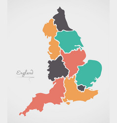 Map Of England 2100.England Shape Vector Images Over 2 100