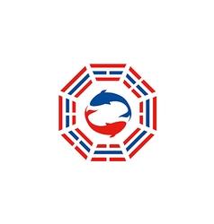 Fish tao yin yang logo vector