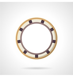 Flat color bearing icon vector image