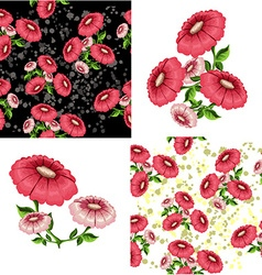 Floral and decorative pattern vector
