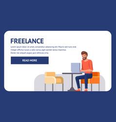 freelance landing professional coder remote job vector image