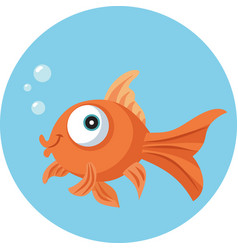 Funny goldfish vecotr cartoon vector