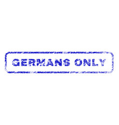 Germans only rubber stamp vector