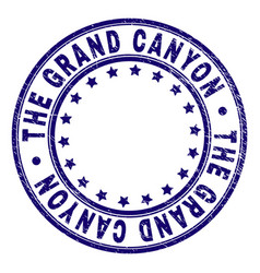 Grunge textured the grand canyon round stamp seal vector
