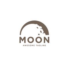 half moon logo design template inspiration vector image