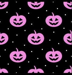halloween seamless pattern with pumpkin on dark vector image