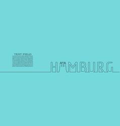 Hamburg seaport lettering vector