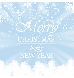 happy new year and christmas greeting card vector image