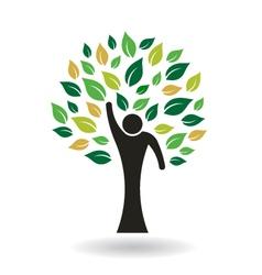 Hi 5 People Tree Logo vector