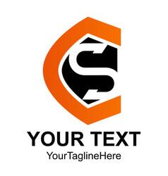Initial letter cs logo design template element vector